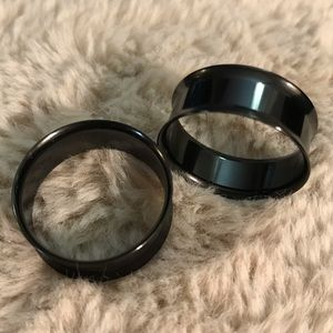 Morbid Metals 1 in (25 mm) Surgical steel tunnels